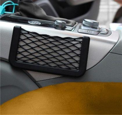 Держатель для телефона сеточный, черный, 14,5 x 1 x 8 см