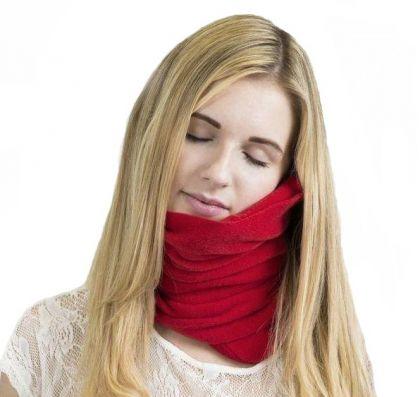 Подушка-шарф в дорогу, 28,5 х 75 см