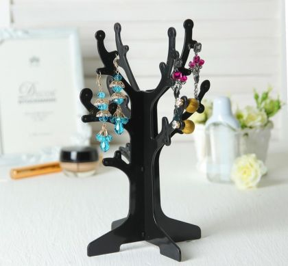 "Подставка для украшений ""Дерево"", черный, 16,5 х 16,5 х 24,5 см"