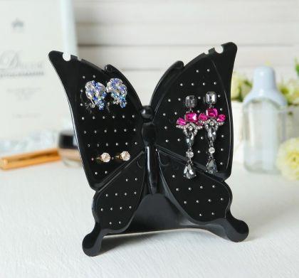 "Подставка для украшений ""Бабочка"", черный, 18 х 6,5 х 18 см"