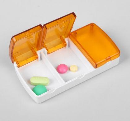 Таблетница, 3 секции, 9,5 х 5 х 2 см