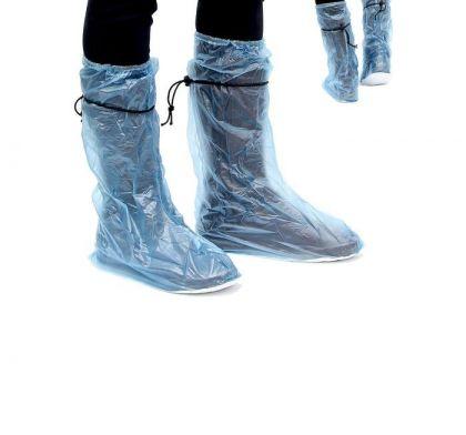 Дождевики для обуви, голубой, длина стопы 30 см, 30 х 22 х 34 см (43-45)