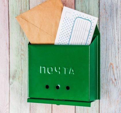 Ящик почтовый «Letter», зеленый, 27 x 7,5 x 23 см