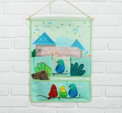 """Подвесные кармашки для детского сада """"Птицы"""", 51 х 37 х 1 см"""