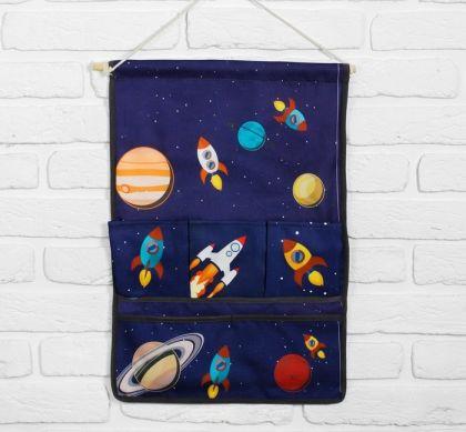 """Подвесные кармашки для детского сада """"Вселенная"""", 51 х 37 х 1 см"""