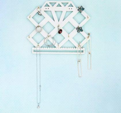 """Органайзер настенный для украшений """"Бриллиант"""", 20,5 ×16,5 × 2,5 см."""