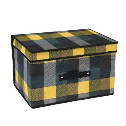 Короб для хранения с крышкой «Клетка», 30 х 40 х 25 см