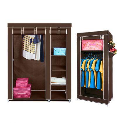 """Комплект тканевых шкафов """"Дабл+Сингл"""", коричневый"""