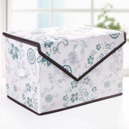 "Коробка для вещей с крышкой ""Бирюза"", 39 х 25 х 16 см"