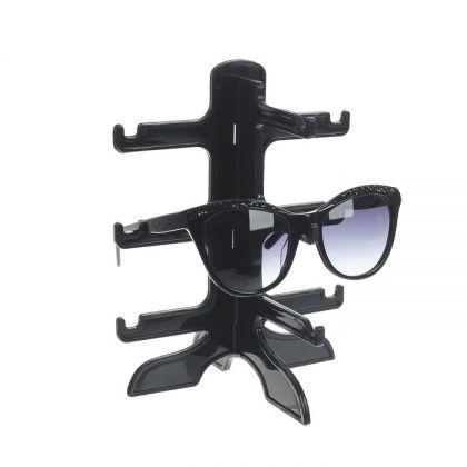 Подставка под очки, 3 яруса, черный, 16 х 14,5 х 20 см