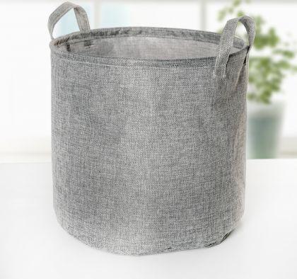 "Корзина для белья ""Грация"", серый, 30 х 30 х 30 см"