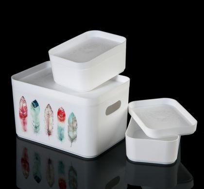 """Набор контейнеров для хранения """"Перо"""", 16 х 11 х 6 см"""