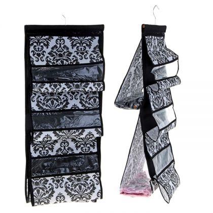 "Органайзер для хранения сумок двусторонний ""Барокко"", 5 отделений, 39 х 88 см"
