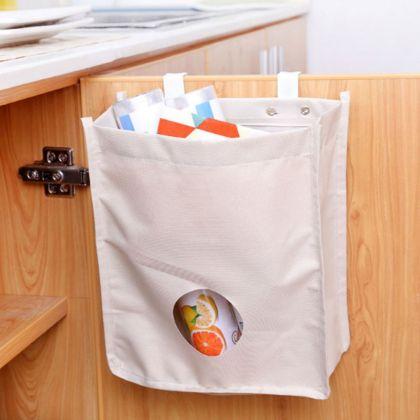 Органайзер для пакетов на дверцу шкафа, белый, 23 х 10 х 28 см