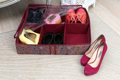 """Органайзер для обуви на 6 боксов """"Madeira"""", 55 х 55 х 12 см"""