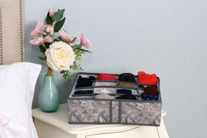 "Органайзер на 16 ячеек ""Grey Flower"", 31 x 31 x 11 см"