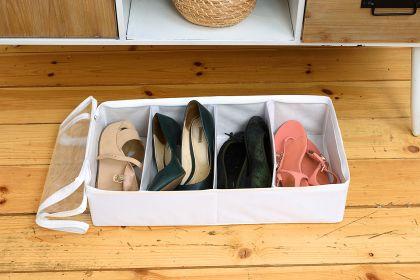"""Органайзер для обуви на 4 бокса """"White"""", 51 х 25 х 12 см"""