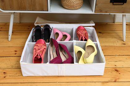 """Органайзер для обуви на 6 боксов """"White"""", 55 х 55 х 12 см"""