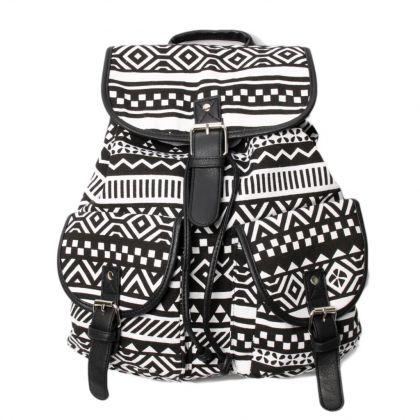 """Рюкзак """"Black White Zigzag"""", 29 х 14 х 42 см"""