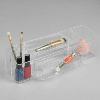 Акриловый органайзер для косметики, 5 секций, 30,5 х 10,5 х 8,5 см