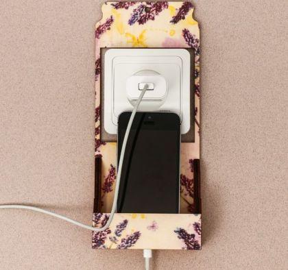 """Подставка для телефона на розетку """"Прованс"""", 10 x 4,8 x 23 см"""
