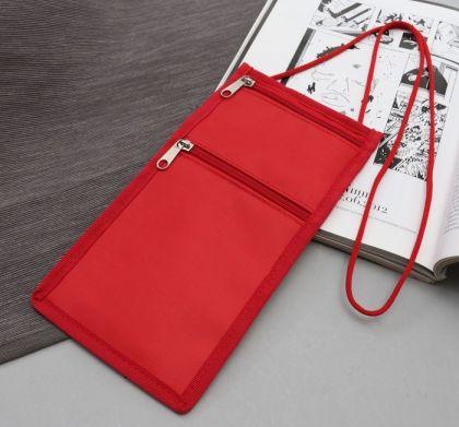 Туристический конверт-кошелек, красный, 12,5 x 0,5 x 25,5 см