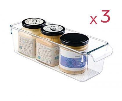 """Набор из 3х контейнеров для холодильника """"Морозко"""", 30 х 9,5 х 5 см"""