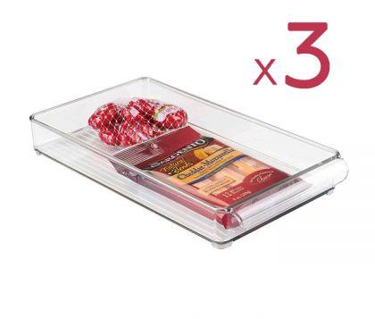 "Набор из 3х контейнеров для холодильника ""Льдинка"", 30 х 20 х 5 см"
