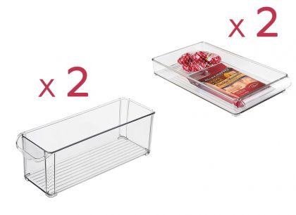 """Набор из 4х контейнеров для холодильника """"Метелица"""""""