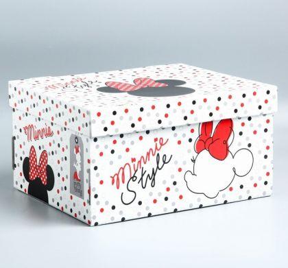 """Коробка для хранения """"Минни Маус"""", 24,5 х 30,5 х 16,5 см"""