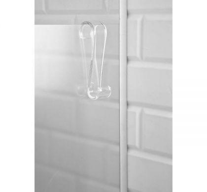 Универсальный крючок на дверь S-образный, прозрачный, 3,8 х 3,1 х 13 см
