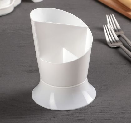 Подставка для столовых приборов, белый, 11 х 11 х 15 см