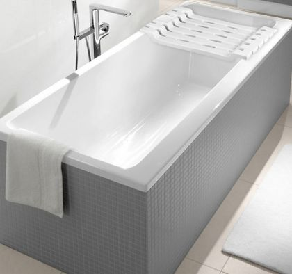 Полка-сиденье для ванны, белый, 68 х 30 х 7 см