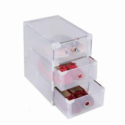 Сборный модуль для хранения обуви из 3 шт, модель 1, 31 х 19,5 х 10,5 см