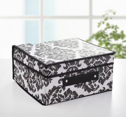 "Коробка для хранения с крышкой ""Барокко"", 30 х 28 х 15 см"