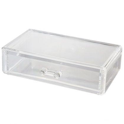 Органайзер для косметики с ящиком, 18,7 х 11,5 х 5,3 см