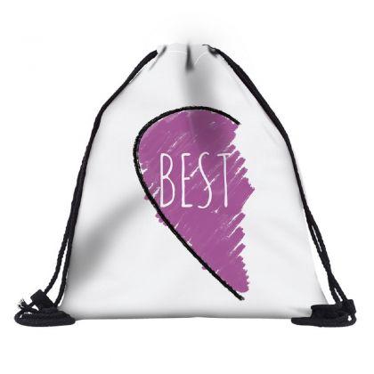 "Сумка-мешок для сменной обуви ""Best Heart"", 30 х 39 х 20 см"