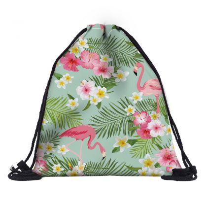 """Сумка-мешок для сменной обуви """"Summer Flamingos"""", 30 х 39 х 20 см"""