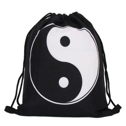 "Сумка-мешок для сменной обуви ""Yin Yan"", 30 х 39 х 20 см"