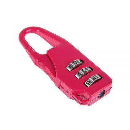 Кодовый замок для сумок, красный