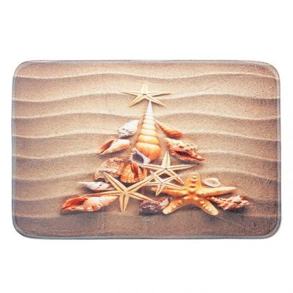 Коврик для ванной «Звезды на песке», коричневый, 60 x 40 см