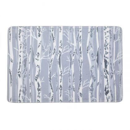 """Коврик для ванной комнаты """"Полосатая абстракция"""", серый, 60 x 40 см"""