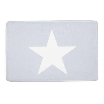 """Коврик для ванной комнаты """"Звезда"""", серый, 60 × 40 см"""