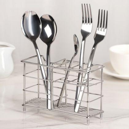 Сушилка для столовых приборов, хром, 15 х 6 х 10,5 см
