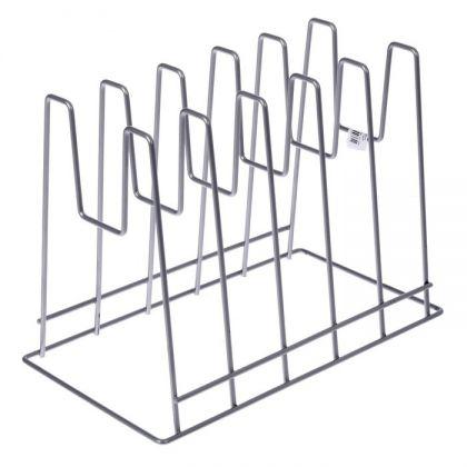 Подставка под крышки настольная, хром, 28 × 16 × 22 см