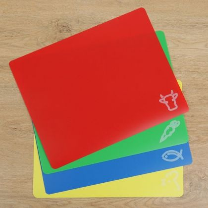 Набор досок разделочных прямоугольных гибких, 4 шт, 37 x 0,1 x 30 см