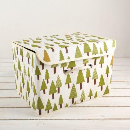"""Короб для хранения с крышкой """"Елочка"""", 37 × 26 × 24 см"""