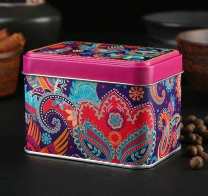 """Банка для сыпучих продуктов """"Турецкий орнамент"""", 400 мл, разноцветный,  9,8 × 6,7 × 6,9 см"""
