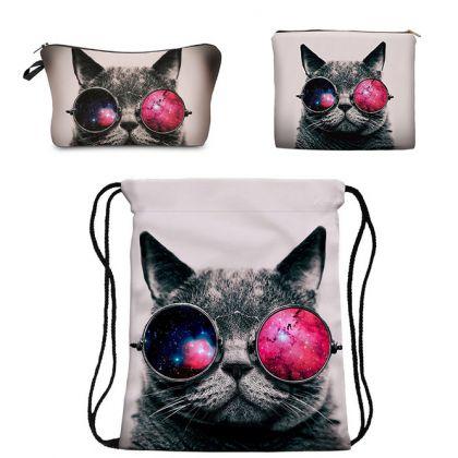 Комплект из 3 предметов «Кот в очках»