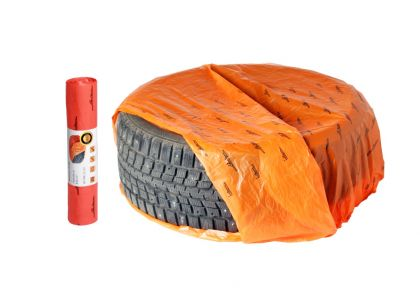 Мешки для хранения колес R12-17, набор 20 шт., оранжевый, 100 х 100 см